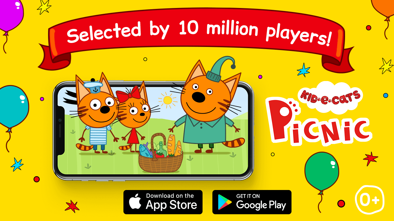 Kid-E-Cats: Picnick (mobile game) reached 10 million downloads in App Store and Google Play
